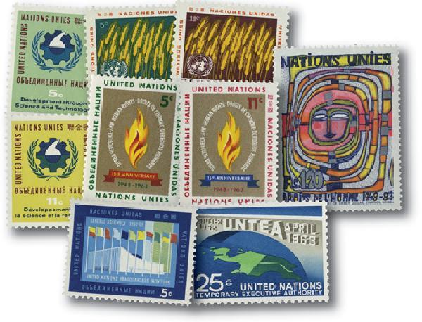 1963 United Nations New York Year Set