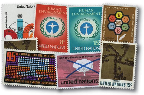 1972 United Nations New York Year Set