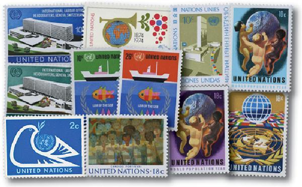 1974 United Nations New York Year Set