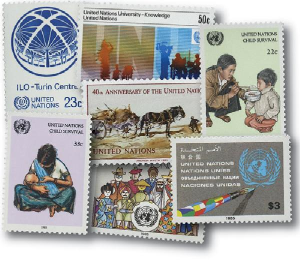 1985 United Nations New York Year Set