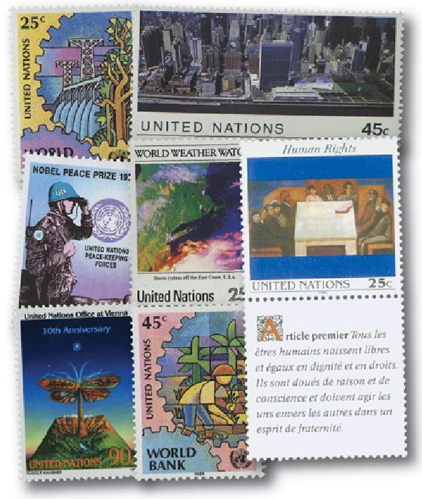 1989 United Nations New York Year Set