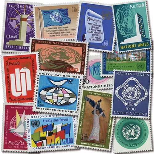1969-70 Geneva - U.N.: HQ, Flags,