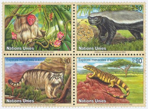 2002 Endangered Species, set of 4