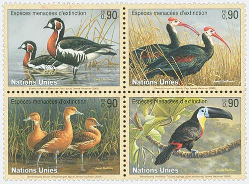 2003 Endangered Species, 4 stamps