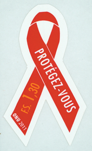 2011 United Nations AIDS Ribbon