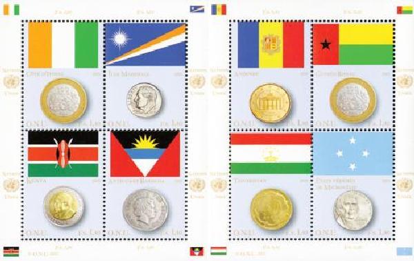 2013 UN Geneva Coin and Flag Ser