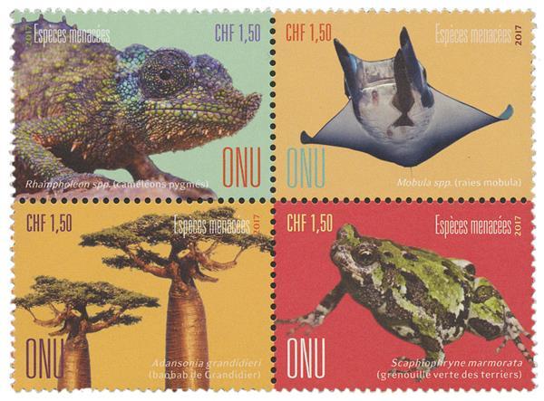 2017 CHF 1,50 Chameleon, Endangered Spec