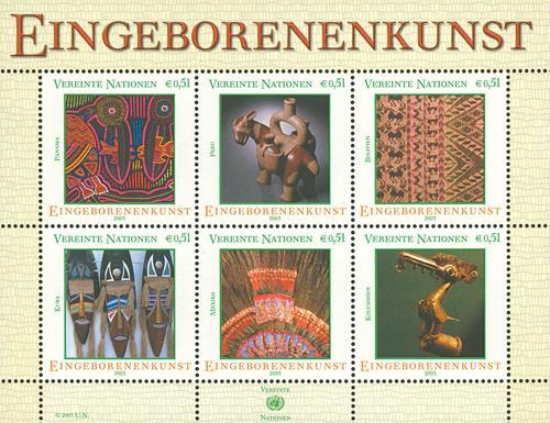 2003 Indigenous Art, 6 stamps