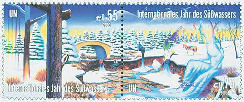 2003 Int. Year of Freshwaters, 2 stamps