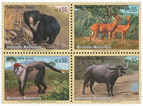 2004 Endangered Species, 4 stamps
