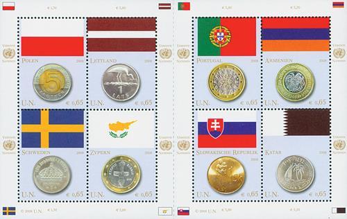 2008 0,65 UNV FLag/Coin Block