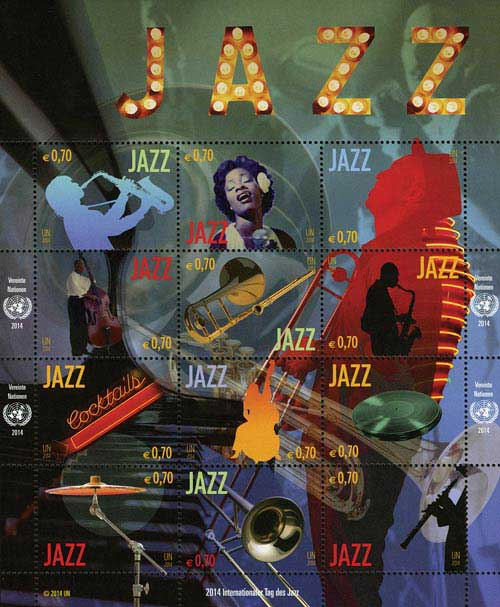 2014 70c Internl Year of Jazz
