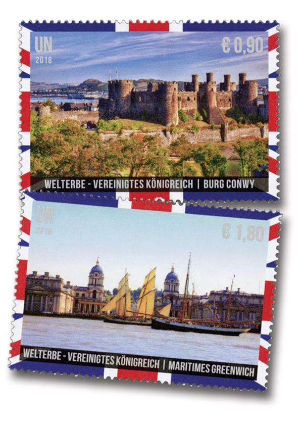 2018 .90 & 1.80 World Heritage - UK