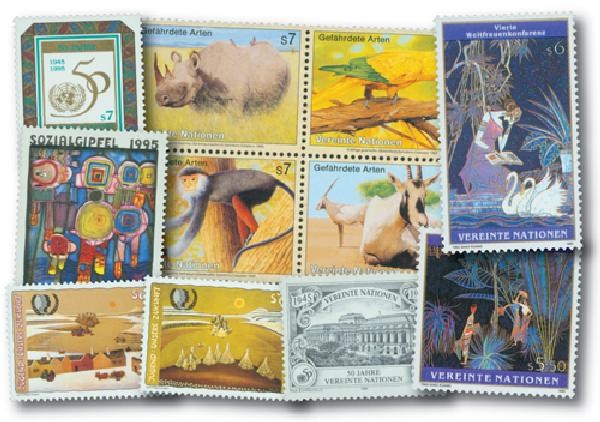 1995 UN Vienna Year Set, 25 mint stamps