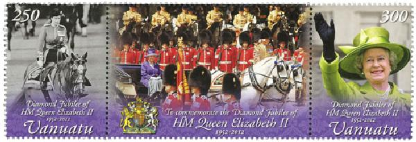 2012 Vanuatu Queen Elizabeth II 2v w/lab
