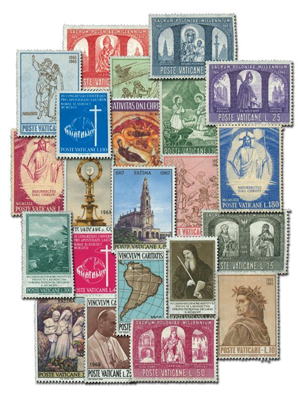 1956-69 Vatican City, 32 Mint Stamps
