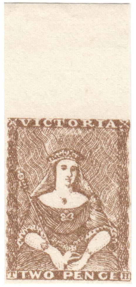 1850 2p brown Queen Victoria, London Gang Forgery - Single