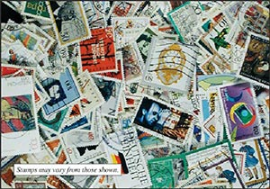 West Germany 950 Different Used Stamps