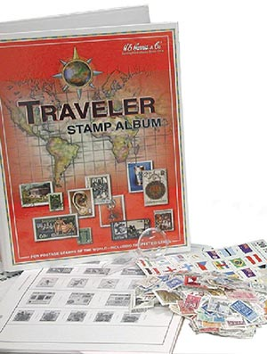 Traveler Worldwide Stamp Collecting Kit