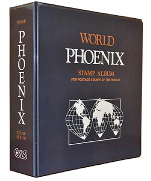 "CWS Phoenix Worldwide Stamp Collection Binder 12"" x 12 1/2"""