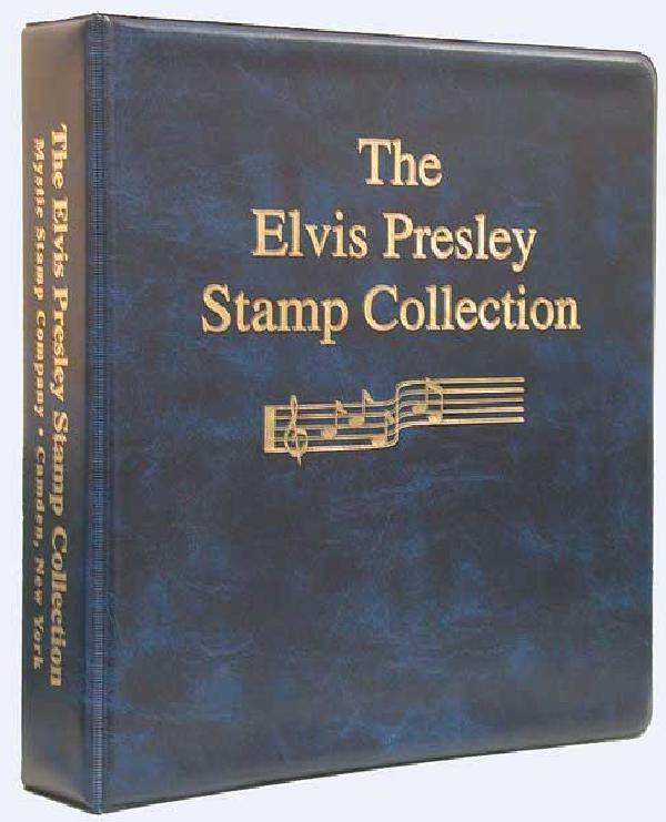 Mystic's Elvis Presley Stamp Collection Binder, 3-Ring