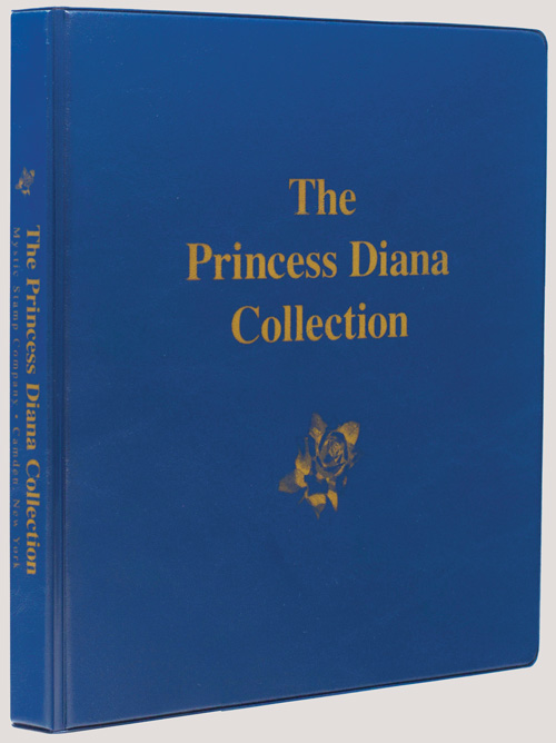 Mystic's Princess Diana Stamp Collection Binder, 3-Ring, 10 x 11 1/2