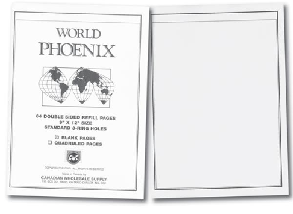 Phoenix Blank Pgs 64 double-sided