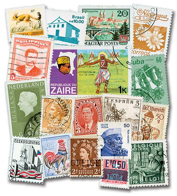 Mini Collection, Set of 1000 Stamps, Worldwide