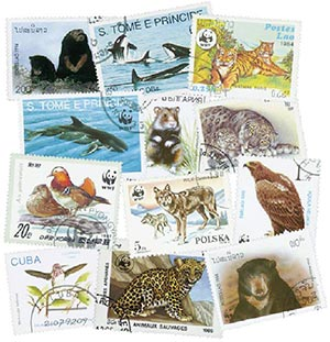World WildLife Fund, 50 stamps, Used