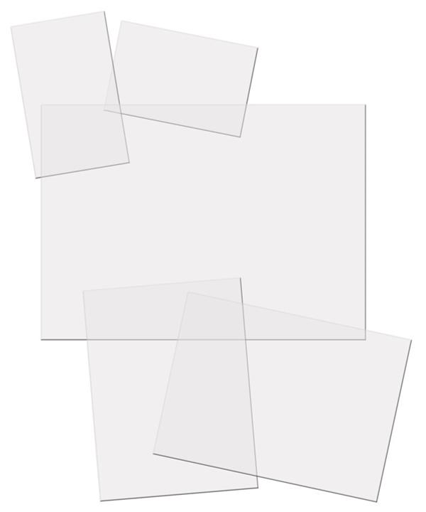 Mounts for Elvis Presley Collections - 20 Clear 106x106 Mounts