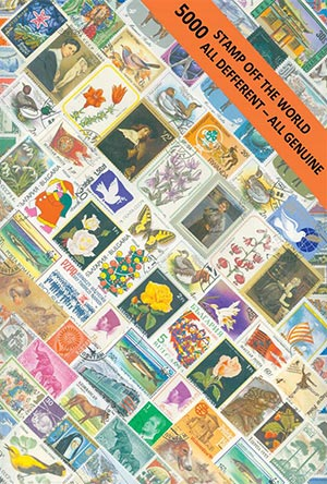 Worldwide Stamps in Display 5000v
