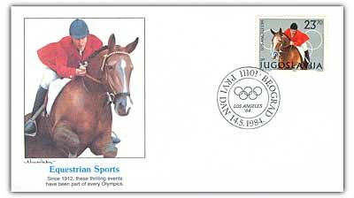 1984 23.7d Yugoslavia Equestrian