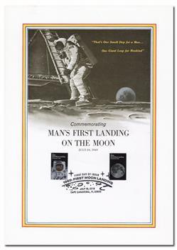 2019 55c First Moon Landing Panel