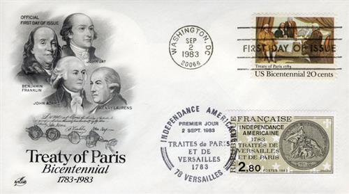 1983 Joint Issue - US and France - Treaty of Paris Bicentennial