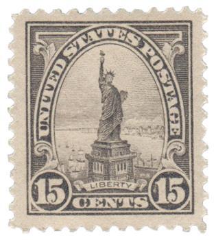 1922 15c Statue of Liberty, gray