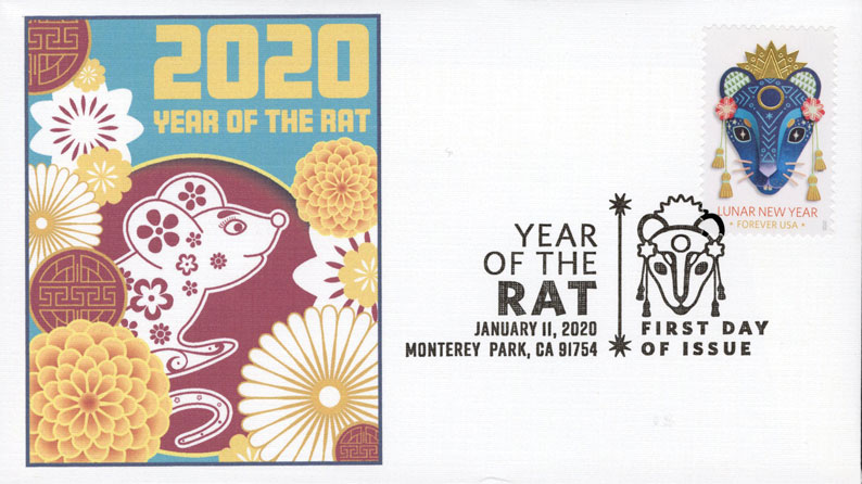 2020 First-Class Forever Stamp - Lunar New Year: Year of the Rat