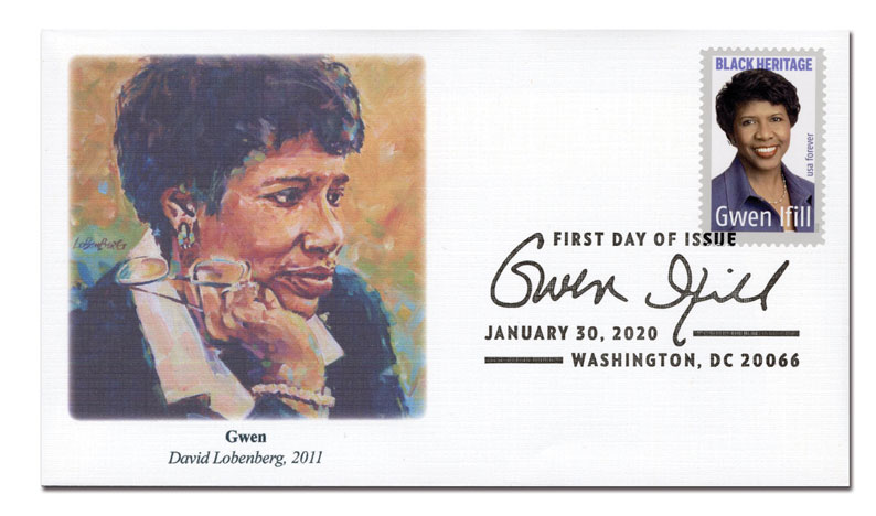 2020 First-Class Forever Stamp - Black Heritage: Gwen Ifill