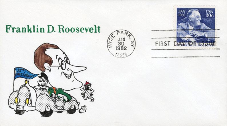 1982 20c Franklin Delano Roosevelt