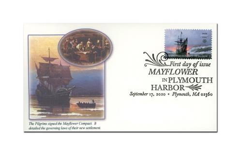 2020 First-Class Forever Stamp - Mayflower in Plymouth Harbor