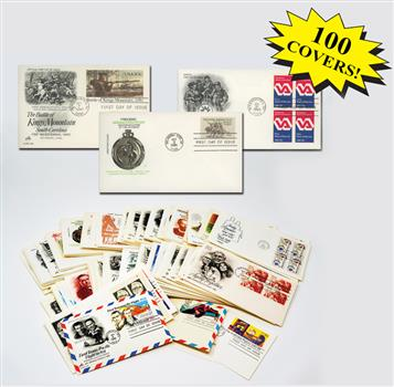 1980s First Day Covers, Collection of 100