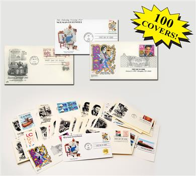1990s First Day Covers, Collection of 100