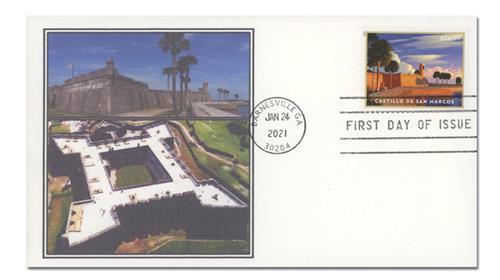 2021 $7.95 Castillo de San Marcos, Priority Mail