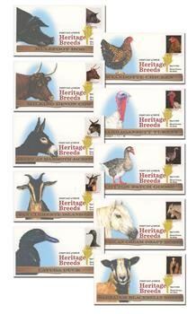 2021 First-Class Forever Stamps - Heritage Breeds