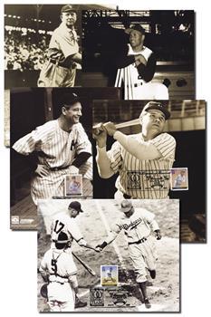 Legends of Baseball, Artcraft First Day Portraits, Set of 5
