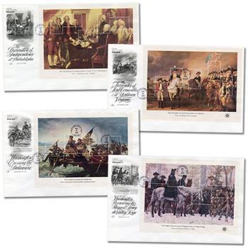1976 13c - 31c American Bicentennial set of 4 souvenir sheets