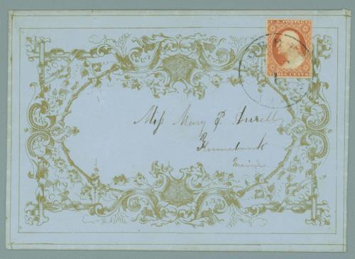 1851-57 3c Single (Scott #11) On Valentine