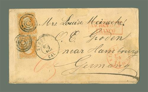1861 30c Franklin (#71) on Cover to Hamburg, Germany