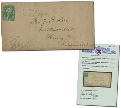 1863 20c Confederate (#CSA13) on Folded Letter to Virginia