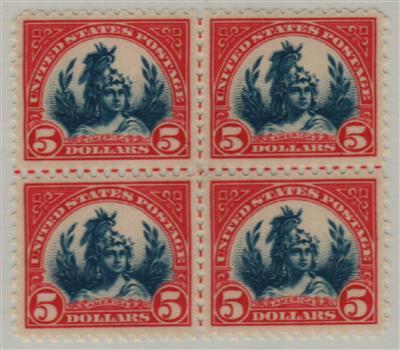 1922-25 $5 America, carmine and blue