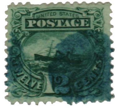 1869 12c S.S. Adriatic, green